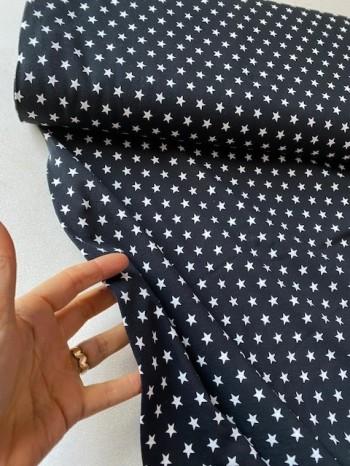 ♥SUPERSTARS♥ 0.5m Jersey BLACK STARS schwarz STERNE