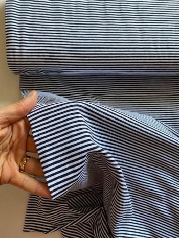 ♥RINGEL♥ 0.5m JERSEY Stripes BLACK&WHITE schwarz/weiss