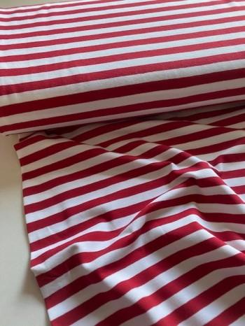 ♥STREIFEN♥ 0.5m JERSEY Stripes ROT weiss STREIFEN
