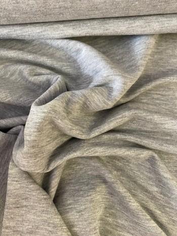 ♥FRENCH TERRY♥ 0.5m SWEATSHIRT grau MELANGE light grey