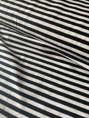 ♥STREIFEN♥ 0.5m JERSEY Stripes SCHWARZ weiss STREIFEN