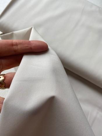 ♥UNI-BAUMWOLLE♥ 0.5m WEBWARE beige BATIST