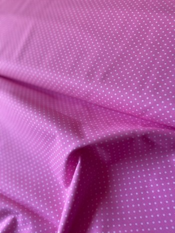 ♥little DOTS♥ 0.5m PINK 100%cotton