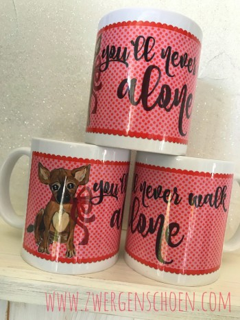 ♥BLESS♥ Tasse YOU`LL NEVER WALK ALONE 0.3L