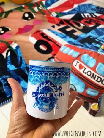 ♥ANARCHY in the UK♥ Tasse MUG Keramik BLUE 0.3L