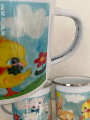 ♥HAPPY SPRING♥ Emaille TASSE Mug BECHER