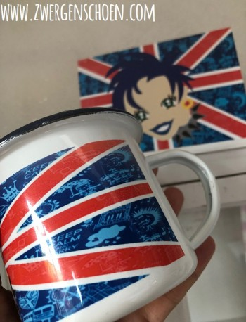 ♥PUNK on UNION JACK♥ Tasse LONDON Great Britain EMAILLE