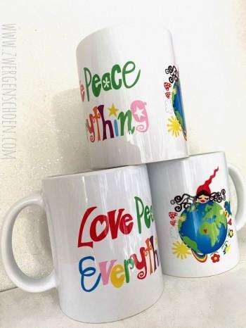 ♥HEILE WELT MILLI♥ Tasse KERAMIK 350ml LOVE PEACE EVERYTHING