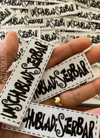 ♥UNschubladISIERbar♥ Webetikett WHITE&BLACK