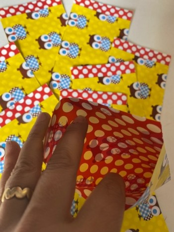 ♥sweet OWLS♥ yellow like the SUN paper BAGS 10pieces