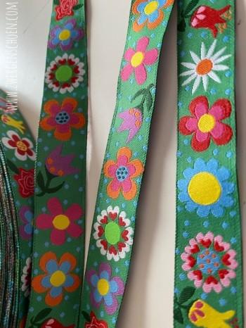 ♥BLUMENschoen on GREEN♥ RIBBON Flower Power GREEN