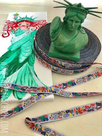♥NYC on GRAFFTISCHÖN♥ Webband NEW YORK white USA Artwork
