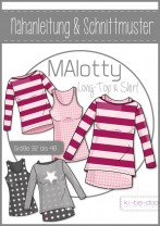 ♥Doppel-Shirt MAlotty♥ PAPIER-SCHNITTMUSTER Din A0 WOMAN 32-48