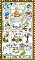 ♥HAZEL&Friends vol.1♥ Embroidery FILE-Set CINDERELLA 3 Nuts 10x10 13x18cm