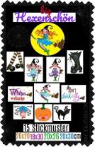 ♥big HEXENSCHoeN♥ Embroidery FILE-Set WITCH GigaHOOP 20x20 18x30 20x26 20x30cm