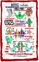 ♥NYC-schön♥ Stickmuster NEW YORK 13x18cm USA