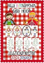 ♥BELLA BUNTKaePPCHEN♥ Embroidery FILE-Set GIGA HOOP litte red 18x30 20x26cm
