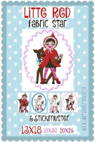 ♥LITTLE RED♥ FabricSTAR Bella EMBROIDERY-FILE 13x18 18x30 20x26cm