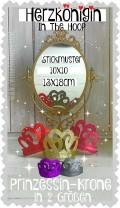 ♥HERZkönigin ITH♥ Stickdatei KRONE Diadem PRINZESSIN 10x10 13x18cm