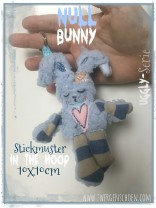 ♥NULL Bunny♥ Stickmuster ITH 10x10cm UGGLY SERIE