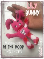 ♥LILY Bunny♥ Stickmuster ITH 10x10cm UGGLY SERIE