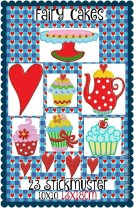 ♥FAIRY CAKES♥ SWEETs for YOUR SWEET Kitchen Embroidery 13x18