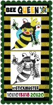 ♥BEE Queen♥ QUEEN of BEES Embroidery-File 10x10 13x18 20x20cm