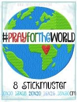 ♥PRAY for the WORLD♥ 1€-SPARbie STICKMUSTER 10x10 13x18 16x26 20x20 18x30cm