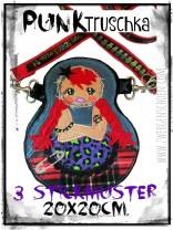 ♥PUNKtruschka♥ Stickmuster MATRUSCHKA für TASCHE usw. 20x20cm