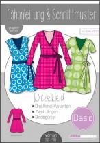 ♥Damen Basic Wickelkleid♥ PAPIER-SCHNITTMUSTER Din A0 WOMAN 32-48