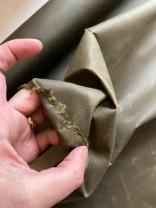♥OILSKIN♥ 0.5m gewachste BAUMWOLLE khaki