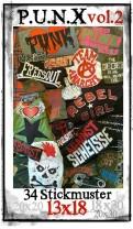 ♥PUNX vol.2♥ Stickmuster PUNKS Rebellion 13x18cm (plus BONUS 20x20 18x30 20x30cm)