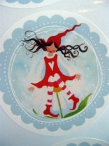 ♥MILLI Kamilli♥ AUFKLEBER 5cm Sticker 20Stück