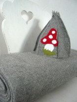♥LANA UNI♥ 0.3m WALK wool light GREY melange