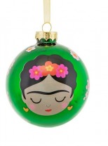 ♥FRIDA KAHLO♥ Bauble GLASS Ball XMAS