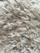 ♥SHAGGY♥ 0.5m FAKE FUR Fell ZOTTEL grau