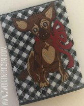 ♥BLESS on VICHY♥ WOVEN LABEL 5x5m DOG PUPPY