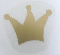♥GOLDY CROWN♥ iron it PRICE FOR ONE 2,5cm
