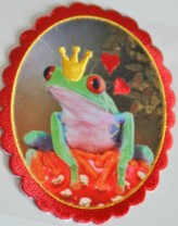 ♥FROGKING♥ Applique IRON IT fairy tale
