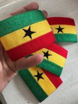 ♥GHANA♥ Patch FLAG iron it 6x8cm