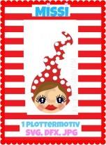 ♥MISSI♥ Plottfile SVG, JPG, DFX dWARF GIRL