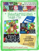 ♥EU-Heimtierausweis-HÜLLE♥ Stickmuster ITH Heftumschlag 20x26 18x30cm