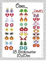 ♥EYELETs♥ Embroidery FILE 10x10cm