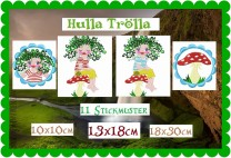 ♥HULLA TRoeLLA♥ Embroidery ICLAND FAIRY Artwork