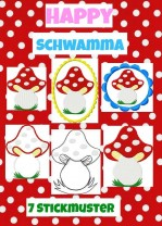 ♥Happy SCHWAMMA♥ Stickmustervorlage