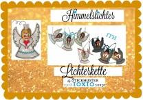 ♥LICHTERKETTE♥ Stickdatei HIMMELsLICHTER Engel ITH 10x10cm