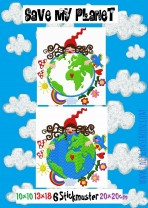 ♥SAVE my PLANET♥ Milli Zwergenschön STICKMUSTER 10x10 13x18 20x20cm