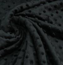 ♥PUNKTE-FLEECE♥ 0.5m MINKY Knubbel BLACK