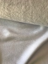 ♥CUDDLE FLEECE♥ 0.5m FLEECE Kuschel OPTICAL WHITE weiss