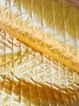 ♥RAUTEN-STEPPER♥ 0.5m GOLD wattiert SATIN